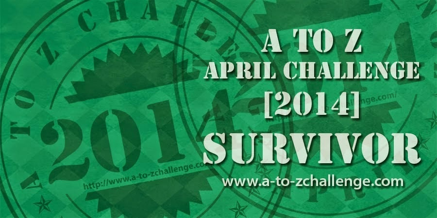 A to Z Blogging Challenge 2014 Survivor on The Road We've Shared