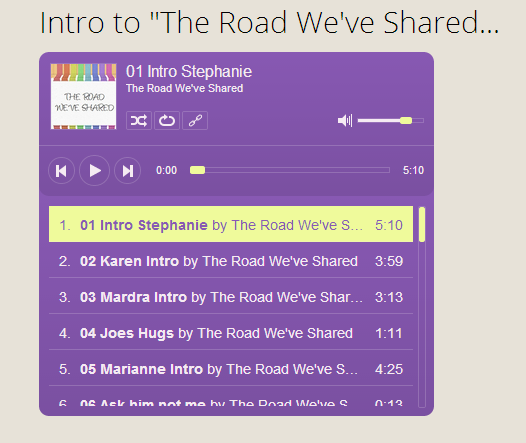 The Road We've Shared Guardianship Radio Show
