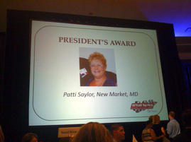 Patti Saylor's President's Award at NDSC2014