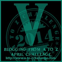V on the A TO Z BLOGGING CHALLENGE ON THE ROAD WE'VE SHARED