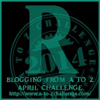 R on the A TO Z BLOGGING CHALLENGE ON THE ROAD WE'VE SHARED