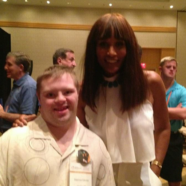 Marcus Sikora with Beverly Johnson