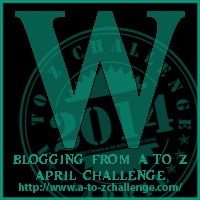 W on the A TO Z BLOGGING CHALLENGE ON THE ROAD WE'VE SHARED